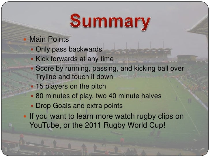 rules in rugby