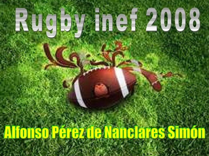 Rugby inef 2008 Alfonso Pérez de Nanclares Simón