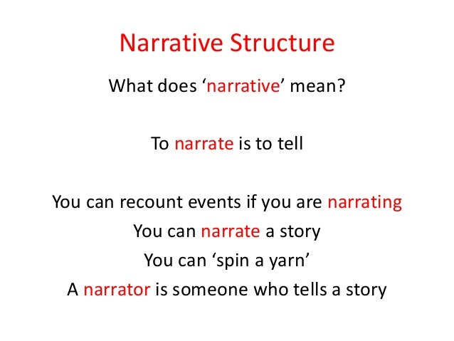 In an essay when you have to write about structure, what does it mean?