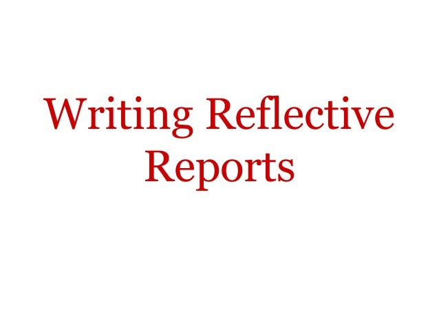 What to write in a reflection paper