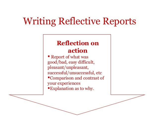 reflection reports In this report, we have described a specific situation in which systematic efforts to  promote reflection achieved only limited success a list of factors we believe.