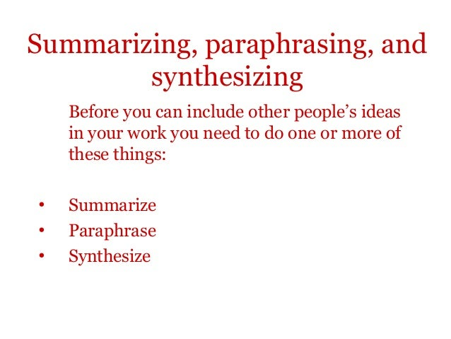 Synthesize - Definition for English-Language Learners from Merriam
