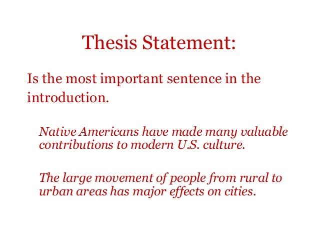 evaluating argumentative thesis statements