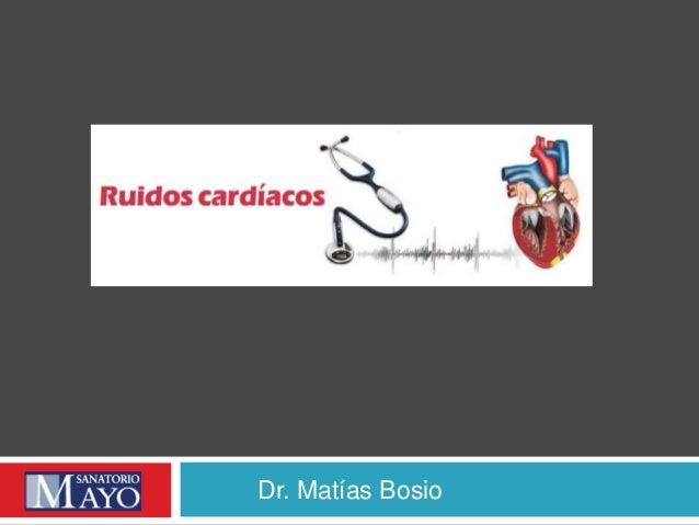 Dr. Matías Bosio