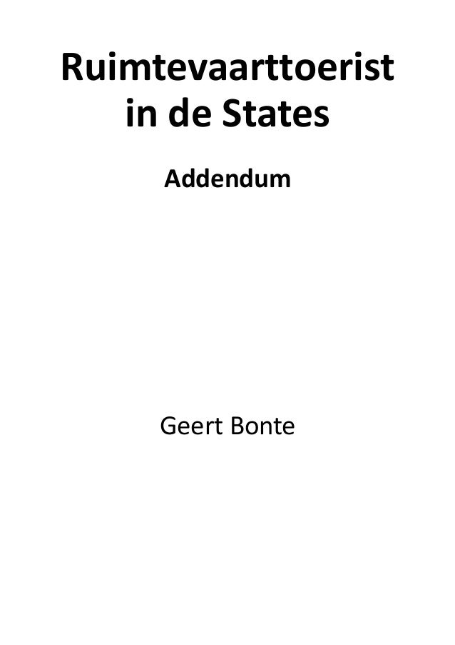Ruimtevaarttoerist in de States – Addendum