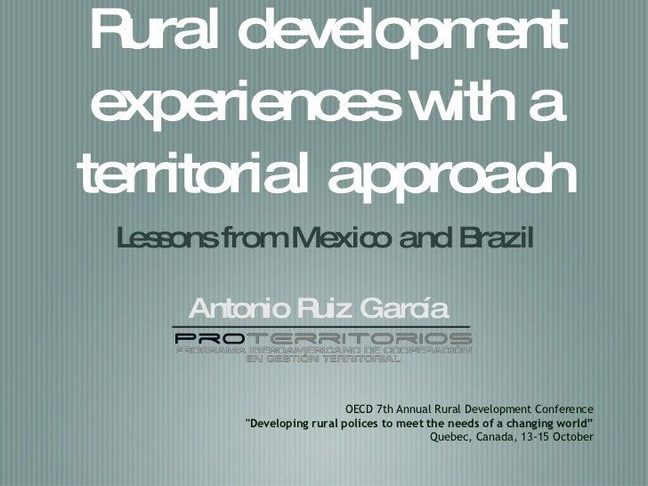 Presentation Antonio Ruiz OECD