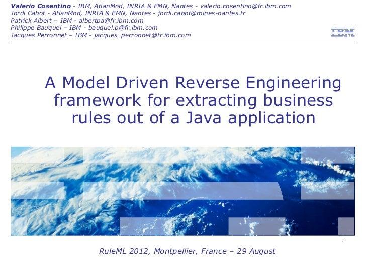 Valerio Cosentino - IBM, AtlanMod, INRIA & EMN, Nantes - valerio.cosentino@fr.ibm.comJordi Cabot - AtlanMod, INRIA & EMN, ...