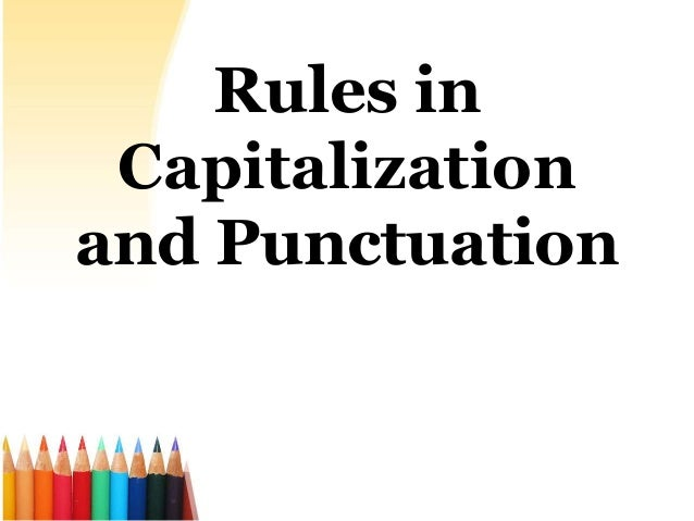 English paper and punctuation - capitalizing?