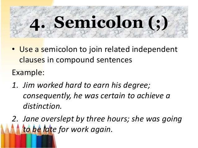 Semicolon Examples Use - Info