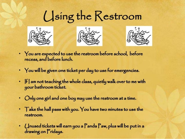 School Restroom Rules Rules And Procedures
