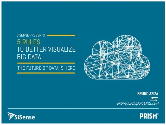 SISENSE PRESENTS5 RULESTO BETTER VISUALIZEBIG DATATHE FUTURE OF DATA IS HEREBRUNO AZIZABRUNO.AZIZA@SISENSE.COM
