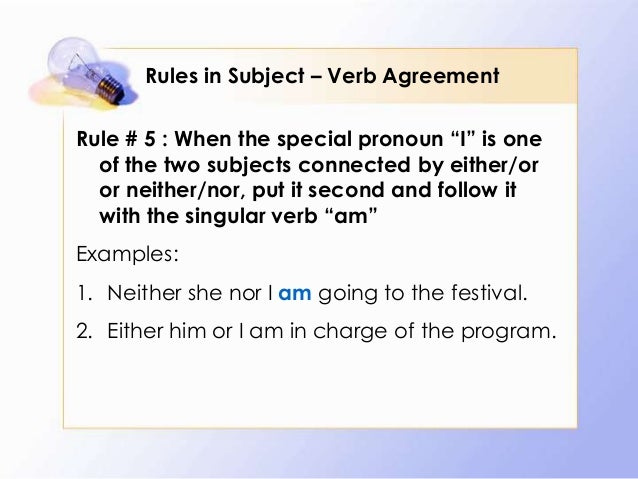 Rules In Subject Verb Agreement