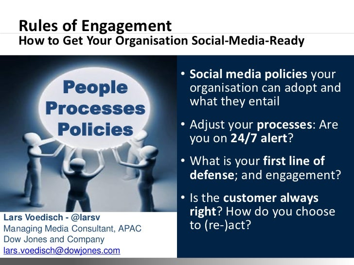 Rules of Engagement   How to Get Your Organisation Social-Media-Ready                                                • Soc...