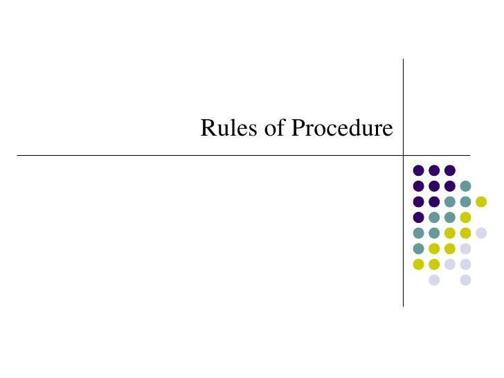 Rules of Procedure<br />