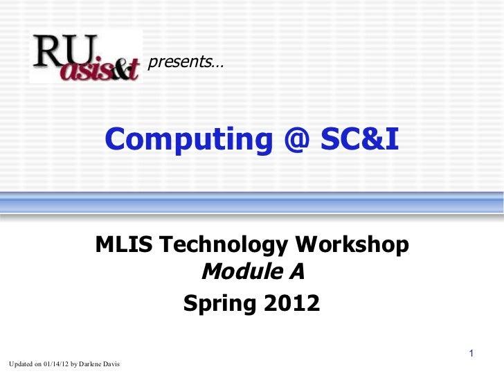 Computing at SC&I