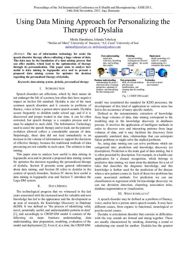 Proceedings of the 3rd International Conference on E-Health and Bioengineering - EHB 2011, 24th-26th November, 2011, Iaşi,...