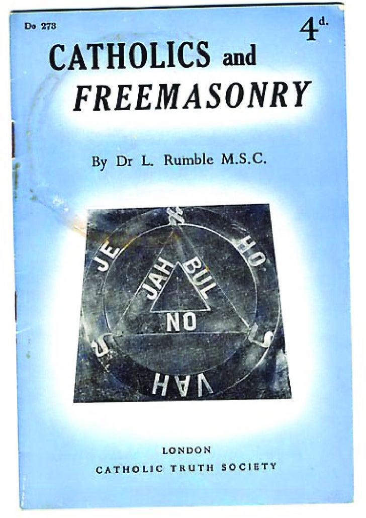 Rumble   Catholics And Freemasonry
