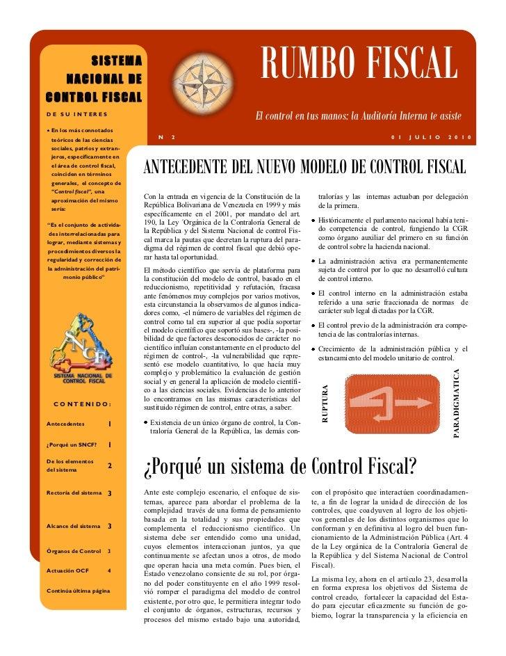 SISTEMA          NACIONAL DECONTROL FISCAL                                                                       RUMBO FIS...