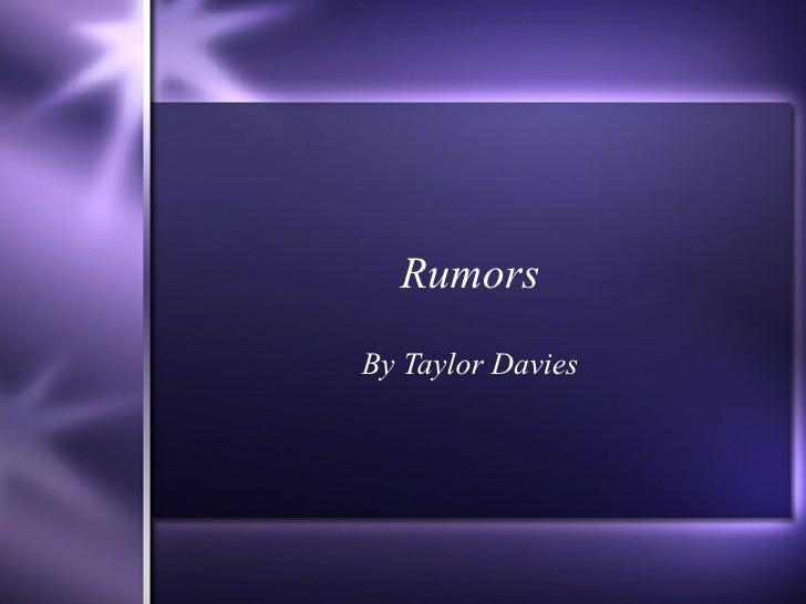 Rumors By Taylor Davies