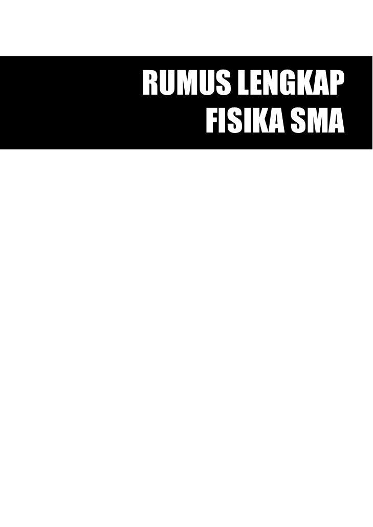 Rumus Fisika SMA
