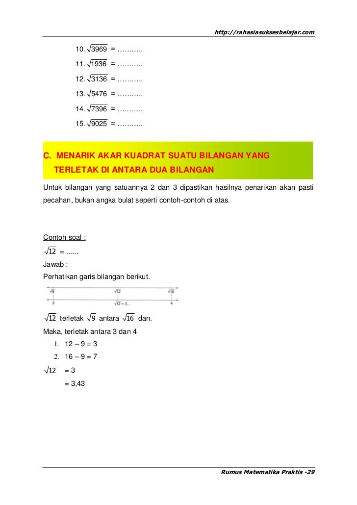 Rumus Matematika Praktis Untuk Un Sd