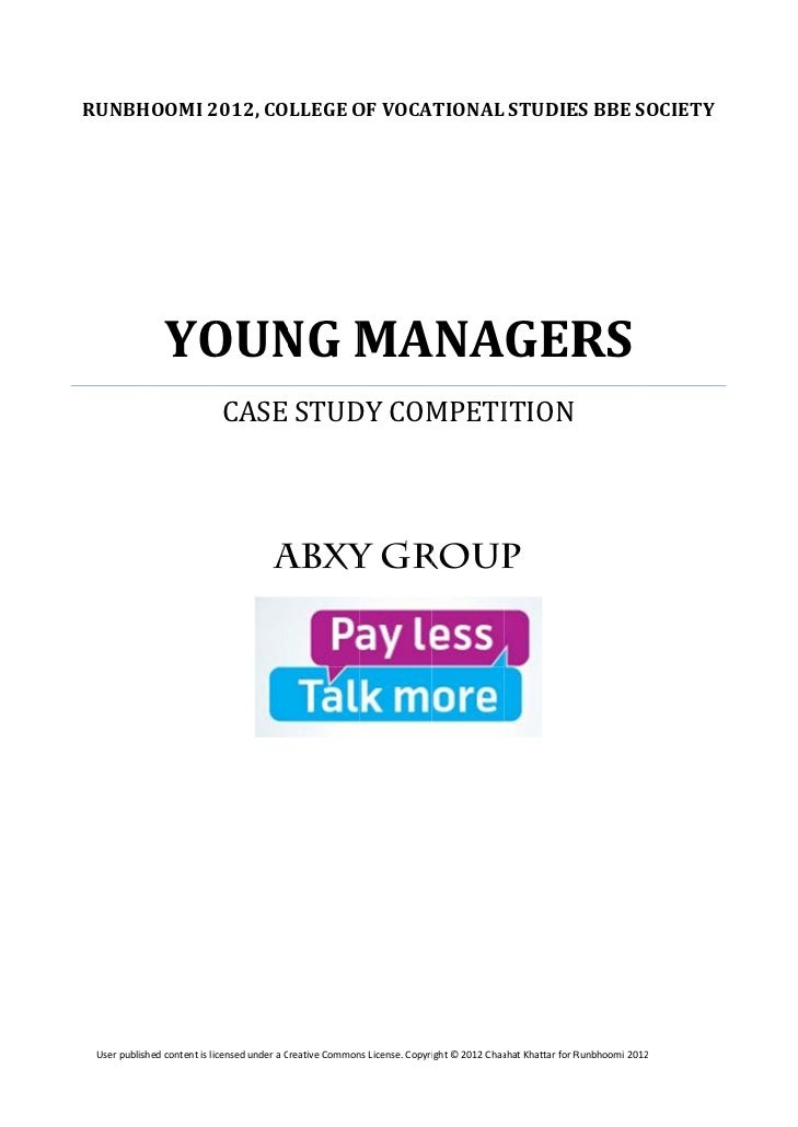 Case Study Competition