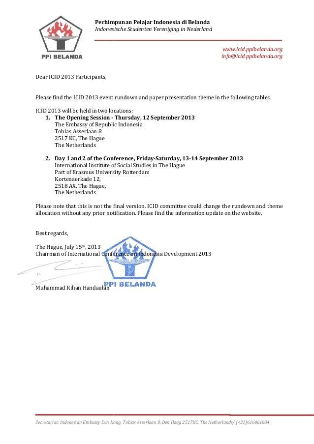 Rundown ICID 12-14 September 2013