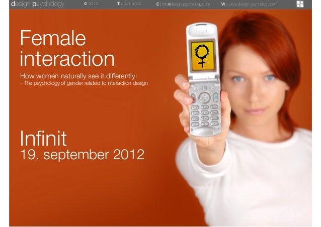 Female Interaction af Rune Nørager, ITU, designpsykologi ApS