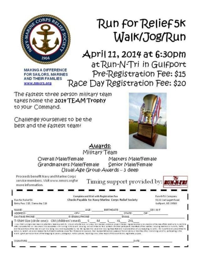 NMCRS Run for Relief 5K Walk/Jog/Run