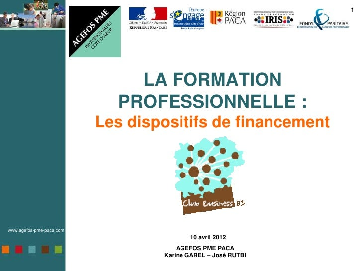 1                              LA FORMATION                            PROFESSIONNELLE :                          Les disp...