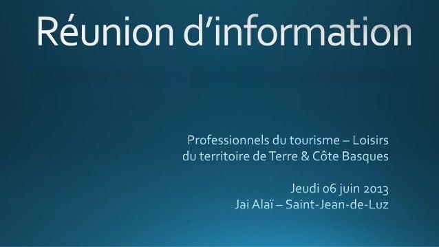 Schéma organisationnel  Les Offices de Tourisme (9)  Les Maires des 12 communes  Association des socioprofessionnels du to...
