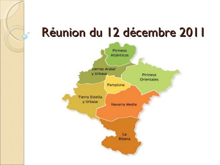 Réunion du 12 décembre 2011