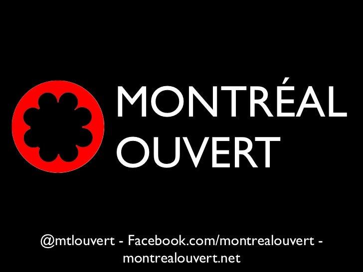 Réunion ouvert #3 de Montréal Ouvert
