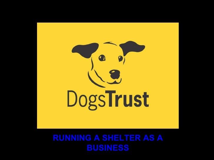 Running a shelter as a business