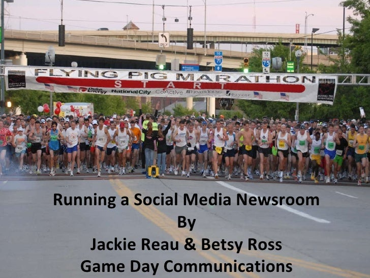 Running a social media newsroom presented at Running USA 2011
