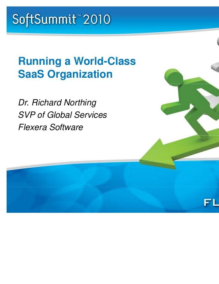 Running a World Class SaaS Organization