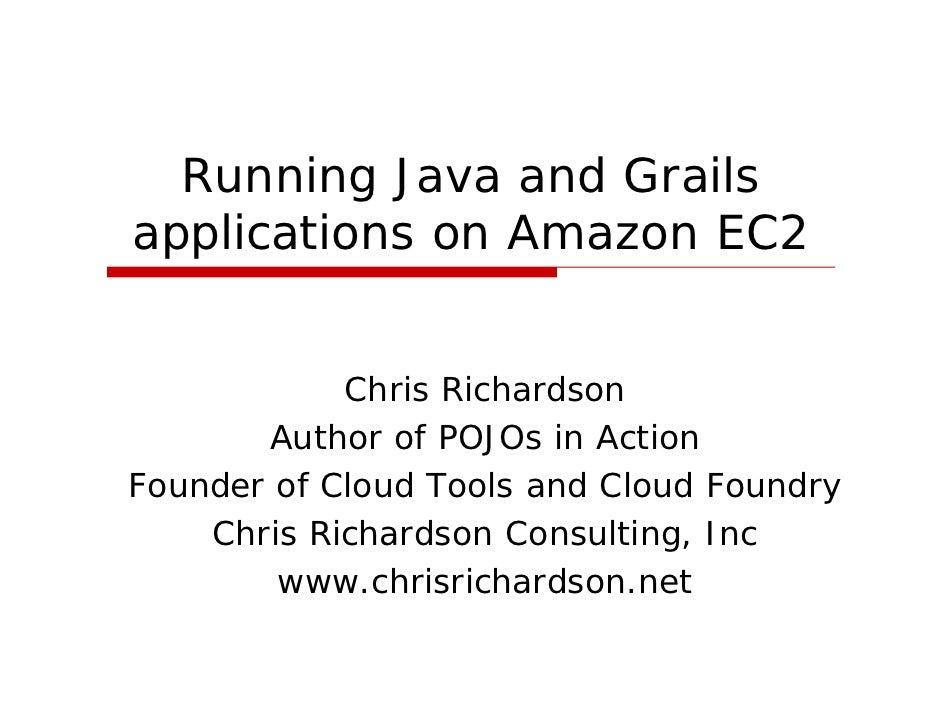 SD Forum Java SIG - Running Java Applications On Amazon EC2
