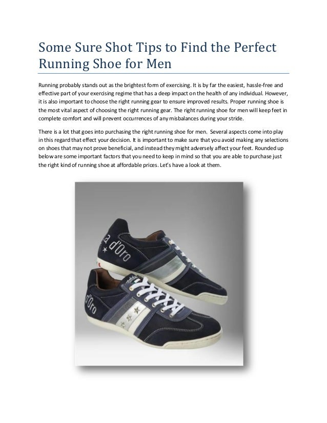 Some Sure Shot Tips to Find the Perfect Running Shoe for Men