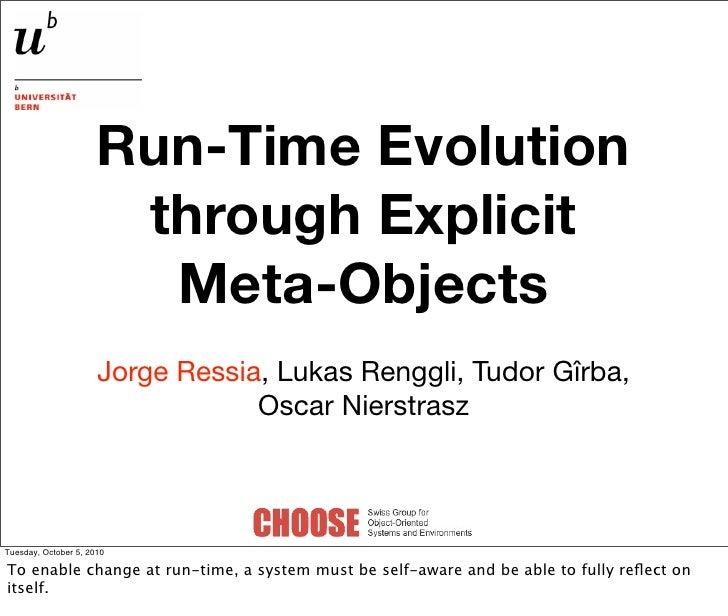 Runtime evolution