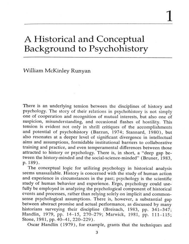 Runyan historical conceptual_psychohistory_ch1