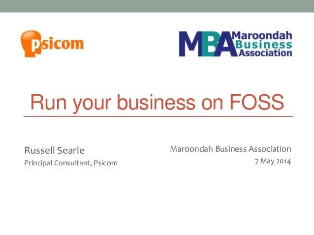 Run your business on FOSS