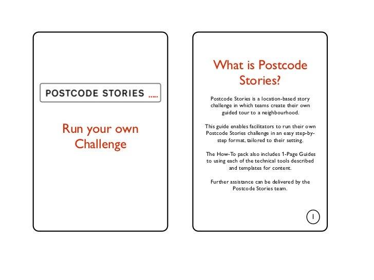 Postcode Stories: Run Your Own Challenge