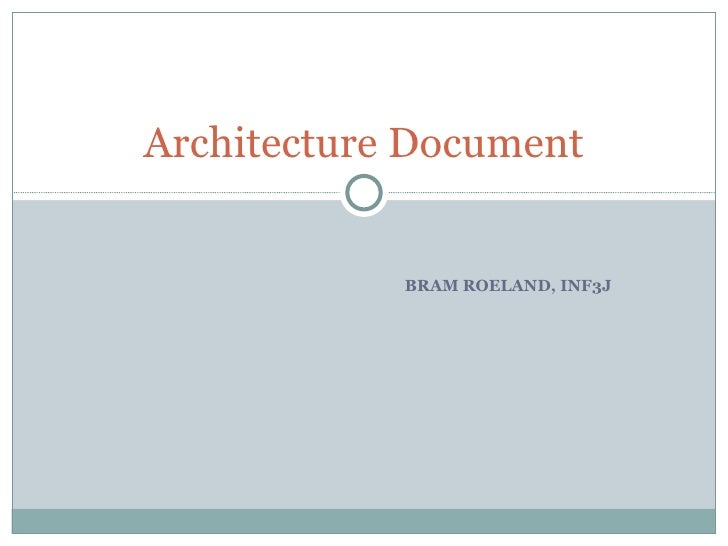 BRAM ROELAND, INF3J Architecture Document