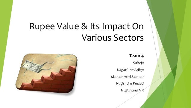 Rupee value & its impact on various sectors