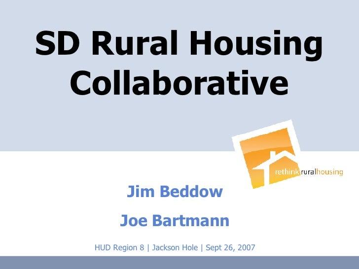 Rural Housing Hud Conference 9 26 2007 Final