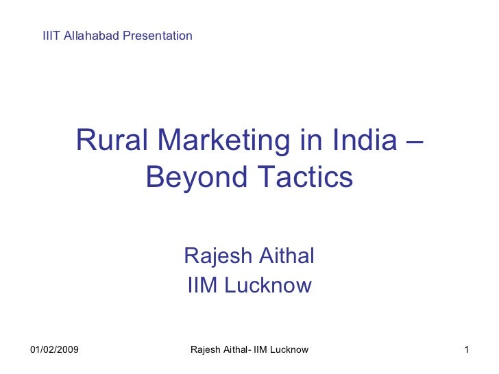 Rural Marketing In India Beyond Tactics