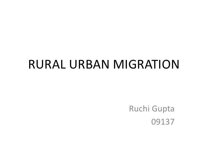 Rural population and migration statistics