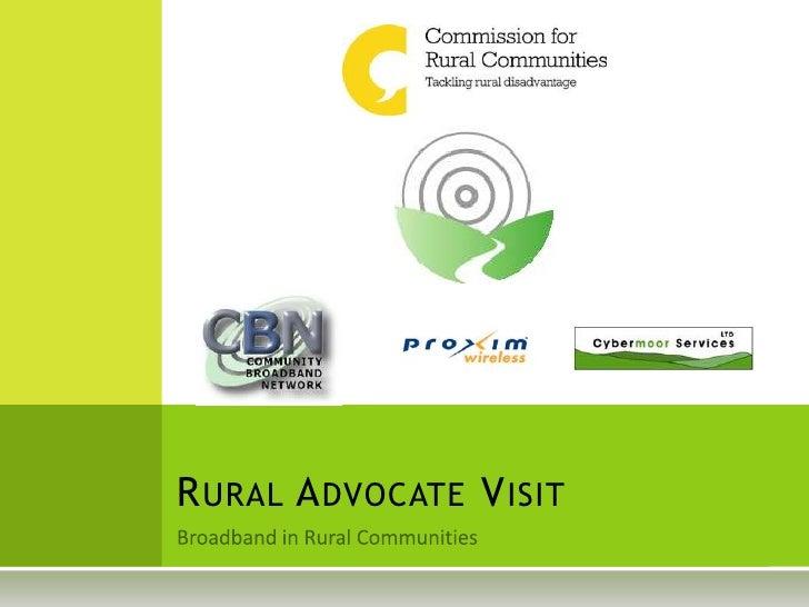 Rural Advocate Visit   Cybermoor Impact