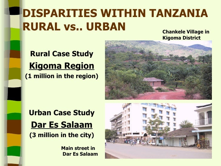 compare contrast rural and urban living Differences in rural vs urban both areas use healthcare make a definitive winner-loser comparison the amount of people living in rural areas vs.