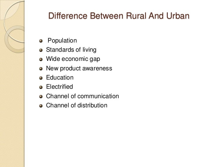difference between rural and urban life in hindi